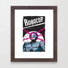 Robocop In Love Framed Art Print