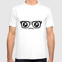 Sad little nerd. Mens Fitted Tee White SMALL