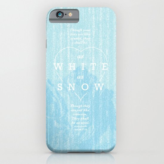 as white as snow iPhone & iPod Case