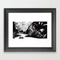 Interstellar Kegger Raid Framed Art Print