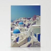 Blue Domes, Oia, Santori… Stationery Cards