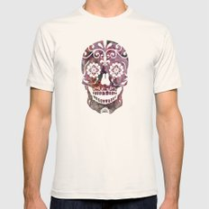 Rachel's Skull Mens Fitted Tee Natural SMALL