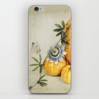 pumpkin & passiflora iPhone & iPod Skin