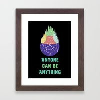 Zootopia - Anyone Can Be Anything [BLACK] Framed Art Print