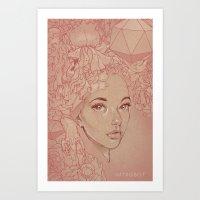 Honey Lamb Art Print