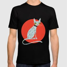 Wild House Cat Black SMALL Mens Fitted Tee