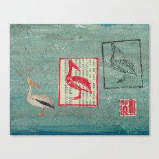 Pelican Collage Canvas Print