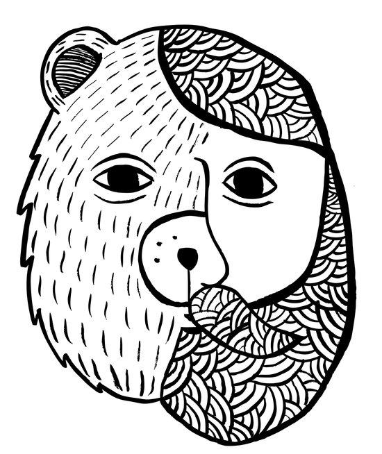 Werebear Art Print