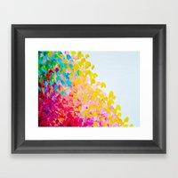 CREATION IN COLOR - Vibr… Framed Art Print