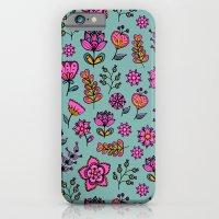 Doodle Floral Main Patte… iPhone 6 Slim Case