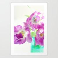 Violet Tulips Art Print