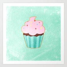Cupcake tasty, sweet illustration Art Print