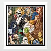 Light Side vs. Dark Side Art Print