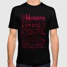 The Blossoms Are Out Mens Fitted Tee Black SMALL