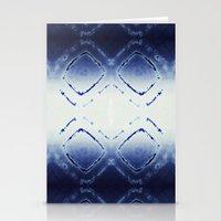 Tie-Dye Dia Blue Stationery Cards