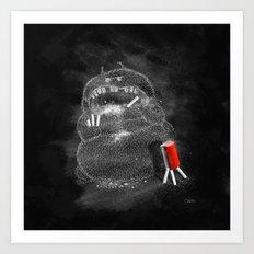 Chalk Monster Art Print