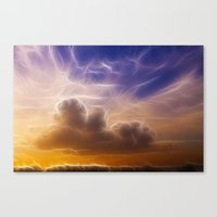 Fractal Skies Sunset Canvas Print