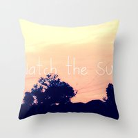 Let's Watch The Sunrise Throw Pillow
