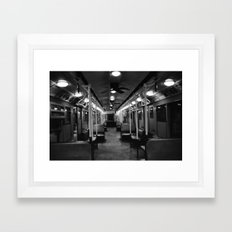 New York Subway Car #2 Framed Art Print