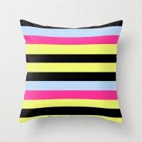 Bertie Bassett Stripes P… Throw Pillow