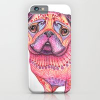 iPhone & iPod Case featuring Pugberry by ola liola