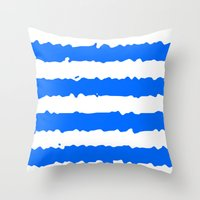 Blue Stripes Throw Pillow