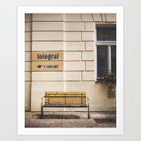 Fotograf Art Print