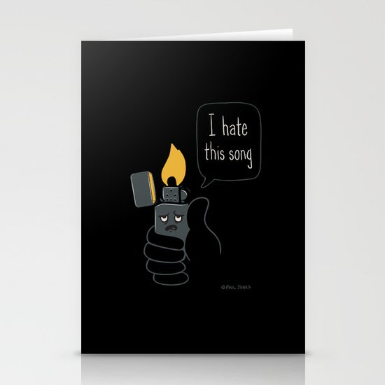 Mad Music Lighter Stationery Card