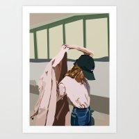 Pink Coat Art Print