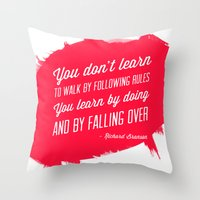 Richard Branson success quote Throw Pillow