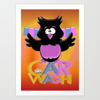 The Car Wash .. cartoon fun Art Print