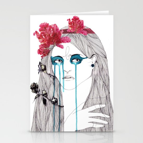 Painted Eyes Stationery Card