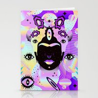 Holographic Girl Stationery Cards