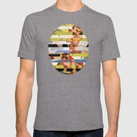 Glitch Pin-Up Redux: Farrah Mens Fitted Tee Tri-Grey SMALL