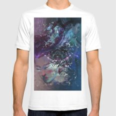 Black Hole Apprehension SMALL Mens Fitted Tee White