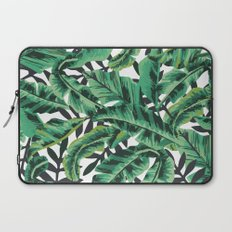 Tropical Glam Banana Leaf Print Laptop Sleeve