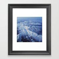 Winter Mountain Range II Framed Art Print