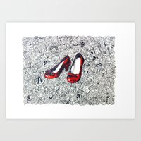 Rubby Slippers Art Print