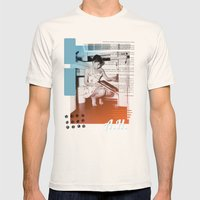 A.H. Collage Mens Fitted Tee Natural SMALL
