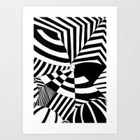 Op art pattern Art Print