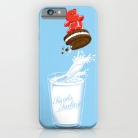 iPhone Cases featuring Sweets Surfing by Matisse Lin