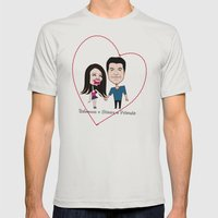 Rebecca Black And Simon … Mens Fitted Tee Silver SMALL