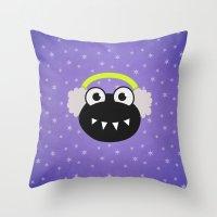 Purple Cute Cartoon Bug … Throw Pillow