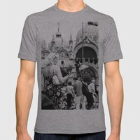 Birds of a Feather - St. Marks Square Italy Mens Fitted Tee Athletic Grey SMALL