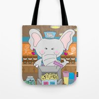 Elsa in the Coffee Shop  - Fun, sweet, creative and colorful, original,digital children illustration Tote Bag