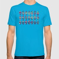 AZTEC PATTERN Mens Fitted Tee Teal SMALL