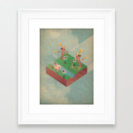 a r c a d i a Framed Art Print