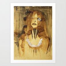 she was here Art Print