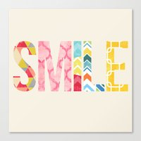 Canvas Print featuring Smile by Tayler Willcox