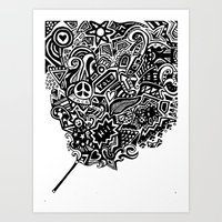 The Doodle Wand Art Print